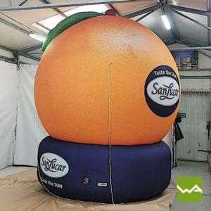 Aufblasbare Sonderform San Lucar Orange