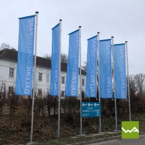 Werbefahne Schloss Parz