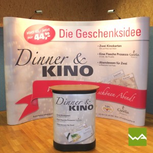 Messewand Pop up MAGNETIC - Dinner & Kino