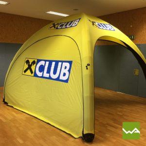 Aufblasbares Werbezelt - GYBE Event Tent - Raiffeisenbank 2