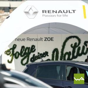 Pneu Werbezelt Renault 3