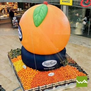Aufblasbare Produktnachbildungen - SanLucar Orange