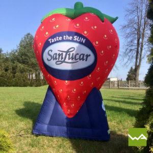 Aufblasbare Produktnachbildungen - SanLucar Erdbeere