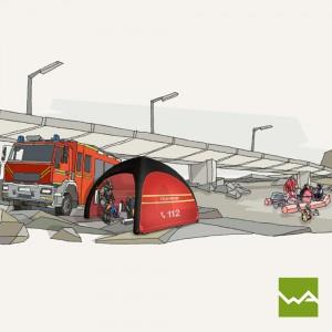 Aufblasbares Schnelleinsatzzelt – Humanity Tent – Feuerwehr 2