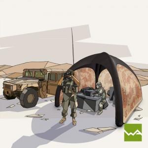 Aufblasbares Schnelleinsatzzelt – Humanity Tent – Bundesheer