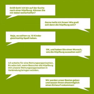 Individuelle Werbeträger - Hüpfburg Gespräch 2