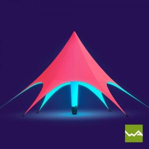 Aufblasbares Promotionzelt / Werbezelt / Eventzelt – Interne Beleuchtung