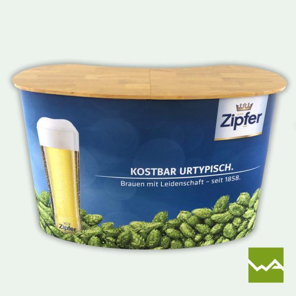 Messetheke Pop up Magnetic Zipfer Bier Titelbild