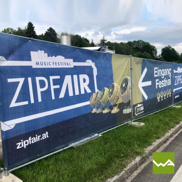Werbebanner MESH Zipfair Festival