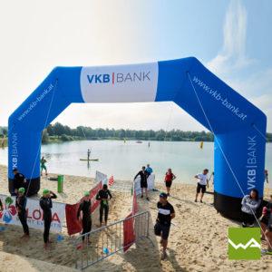 Aufblasbarer Werbebogen Volksbank VKB 2