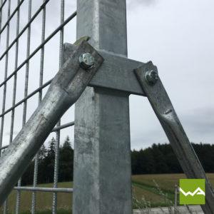 Werbewand Stahl 1