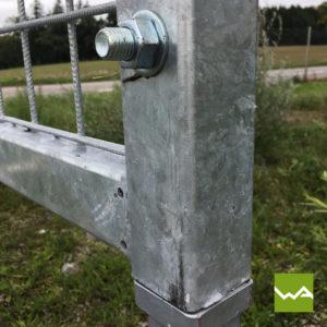 Werbewand Stahl 4