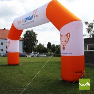 Startbogen / Zielbogen - Aufblasbarer Torbogen / Werbebogen - Schlaustrom