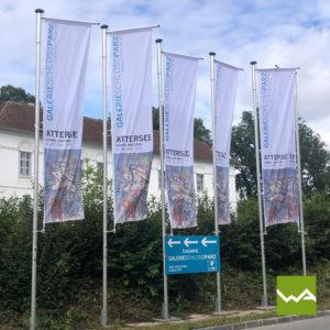 Werbefahnen Schloss Parz 1