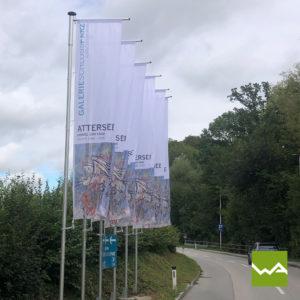 Werbefahnen Schloss Parz 2