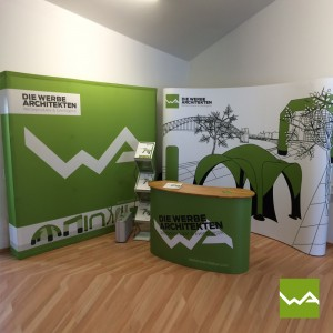 Messestand Pop up Textil – die Werbearchitekten