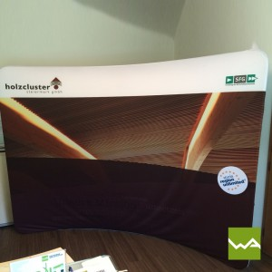 Zipper Werbewand CURVED – Holzcluster GmbH 2