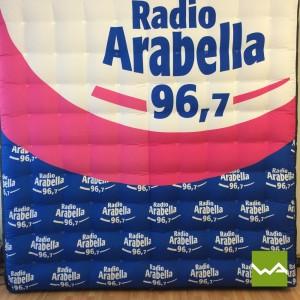 Aufblasbare Werbewand / Aufblasbarer Quader - Radio Arabella