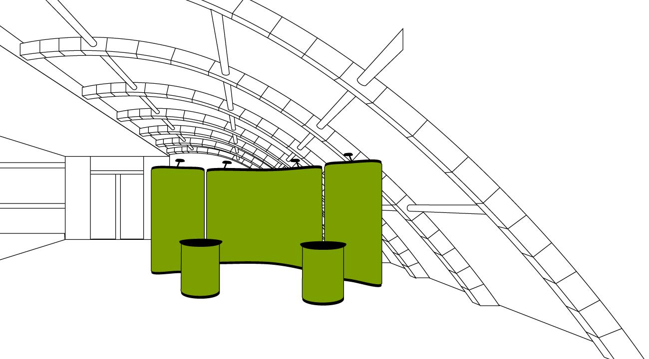 dieWerbearchitekten - Illustration Messewand & Messetheke
